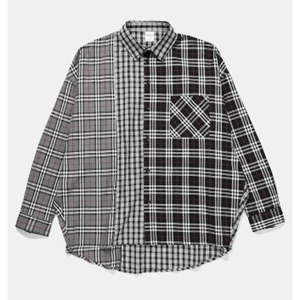 Dezzn Shirts Button-down Gingham Other Check Patterns Street Style 4