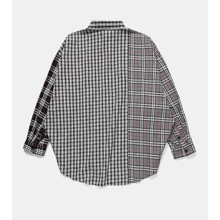 Dezzn Shirts Button-down Gingham Other Check Patterns Street Style 5