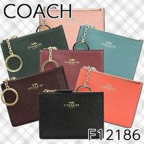 Coach Plain Leather Card Holders