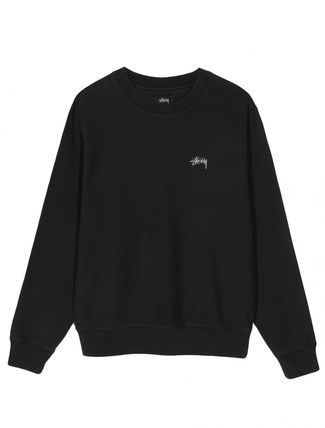 STUSSY Sweatshirts Crew Neck Pullovers Unisex Long Sleeves Plain Cotton 2