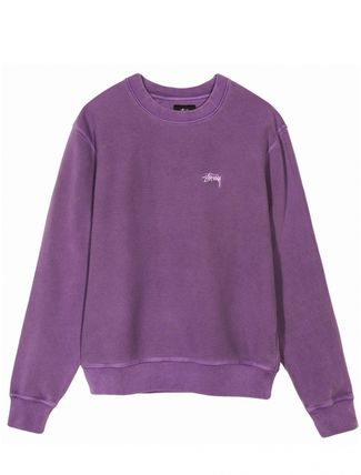 Crew Neck Pullovers Unisex Long Sleeves Plain Cotton