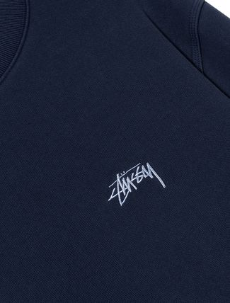 STUSSY Sweatshirts Crew Neck Pullovers Unisex Long Sleeves Plain Cotton 8