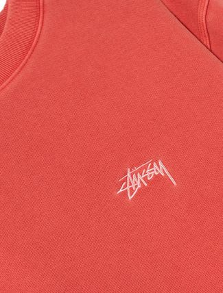 STUSSY Sweatshirts Crew Neck Pullovers Unisex Long Sleeves Plain Cotton 10