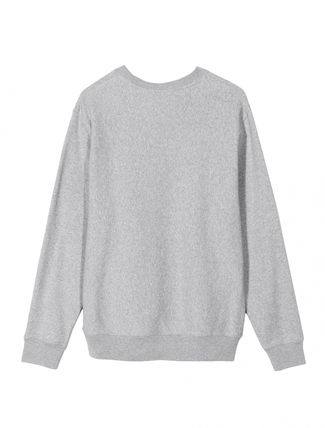STUSSY Sweatshirts Crew Neck Pullovers Unisex Long Sleeves Plain Cotton 18