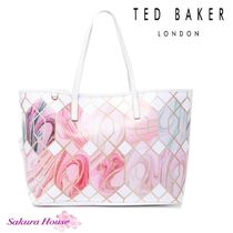 TED BAKER Casual Style Canvas A4 Totes