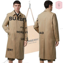 Burberry Blended Fabrics Plain Trench Coats
