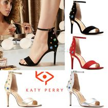 Katy Perry Open Toe Blended Fabrics Plain Pin Heels Party Style