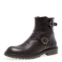 J75 by JUMP Faux Fur Plain Engineer Boots