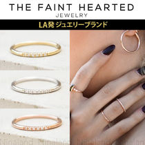 THE FAINT HEARTED Silver Brass 14K Gold Rings