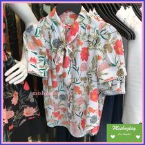 kate spade new york Flower Patterns Short Sleeves Shirts & Blouses