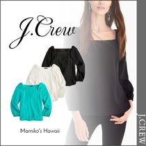 J Crew Casual Style Long Sleeves Plain Shirts & Blouses