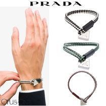 PRADA Unisex Leather Bracelets