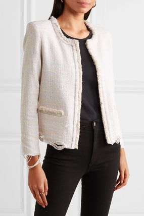 Plain Medium Elegant Style Jackets