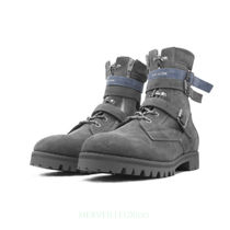 C2H4 Suede Street Style Engineer Boots