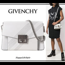 GIVENCHY GV3 2WAY Chain Plain Leather Elegant Style Shoulder Bags