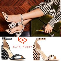 Katy Perry Dots Open Toe Block Heels Party Style Heeled Sandals