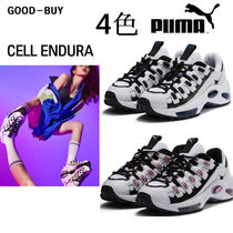 PUMA THUNDER ELECTRIC Casual Style Unisex Suede Collaboration Low-Top Sneakers