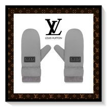 Louis Vuitton Unisex Wool Plain Gloves Gloves