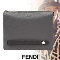 FENDI Calfskin Plain Handmade Clutches