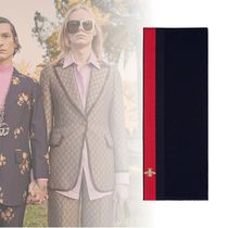 GUCCI Unisex Wool Blended Fabrics Street Style Scarves