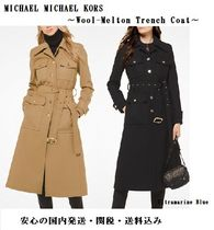 Michael Kors Casual Style Wool Plain Trench Coats