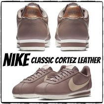 Nike CORTEZ Casual Style Street Style Plain Leather Low-Top Sneakers