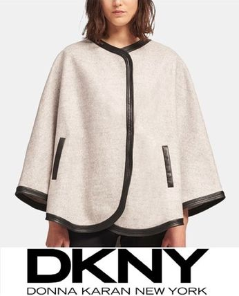 Short Blended Fabrics Ponchos & Capes