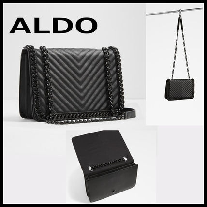 ae0ba63fcd2 ... ALDO Shoulder Bags 2WAY Plain Leather Elegant Style Shoulder Bags ...