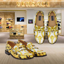 VERSACE Loafers Plain Other Animal Patterns Leather U Tips