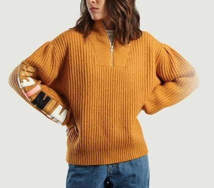 Crew Neck Stripes Long Sleeves Sweaters
