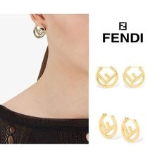 FENDI Street Style Elegant Style Earrings & Piercings