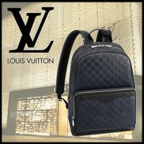Louis Vuitton Zigzag Unisex Street Style A4 Leather Backpacks