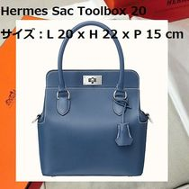 HERMES Toolbox 2WAY Leather Handmade Handbags