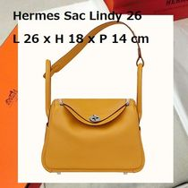 HERMES Lindy 2WAY Leather Handmade Handbags