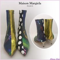 Maison Margiela Dots Casual Style Leather Pin Heels Ankle & Booties Boots