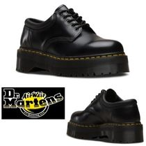 Dr Martens Platform Round Toe Casual Style Unisex Street Style Leather