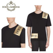 Dolce & Gabbana Crew Neck Pullovers Street Style Short Sleeves