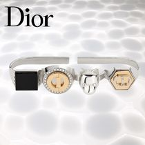 Christian Dior Blended Fabrics Silver Rings