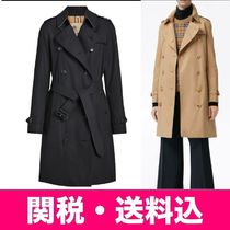 Burberry THE KENSINGTON Plain Long Elegant Style Trench Coats