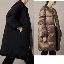 Massimo Dutti Plain Medium Down Jackets