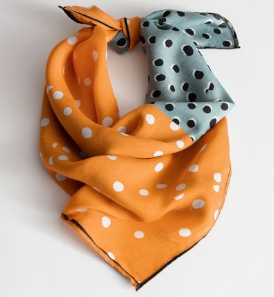 Dots Casual Style Silk Lightweight Scarves & Shawls