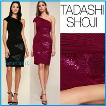 TADASHI SHOJI Tight Blended Fabrics Plain Medium Party Style Dresses