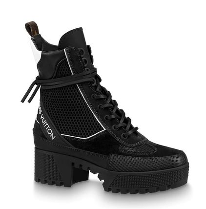 f293f4ef0b8f ... Louis Vuitton Outdoor Platform Mountain Boots Casual Style Street Style  Leather ...