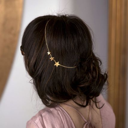 Star Handmade Party Style 18K Gold 14K Gold Hair Accessories