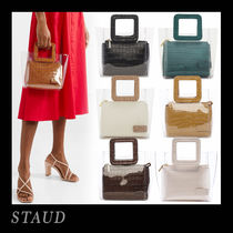 STAUD Casual Style Other Animal Patterns Crystal Clear Bags