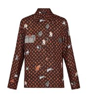 Louis Vuitton MONOGRAM Casual Style Silk Collaboration Long Sleeves