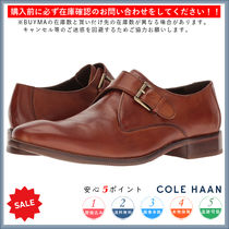 Cole Haan Monk Plain Leather Loafers & Slip-ons