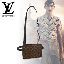 Louis Vuitton MONOGRAM Monogram Blended Fabrics 3WAY Chain Leather Hip Packs
