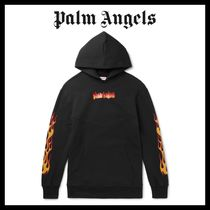 Palm Angels Pullovers Street Style Long Sleeves Cotton Hoodies