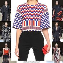 alexander mcqueen Other Check Patterns Silk Elegant Style Shirts & Blouses
